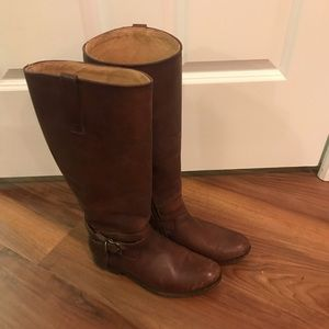 Frye Melissa Knotted Belted Tall Leather Boots